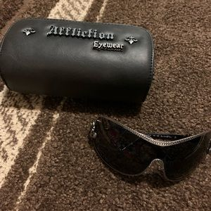 Affliction sunglasses and case new